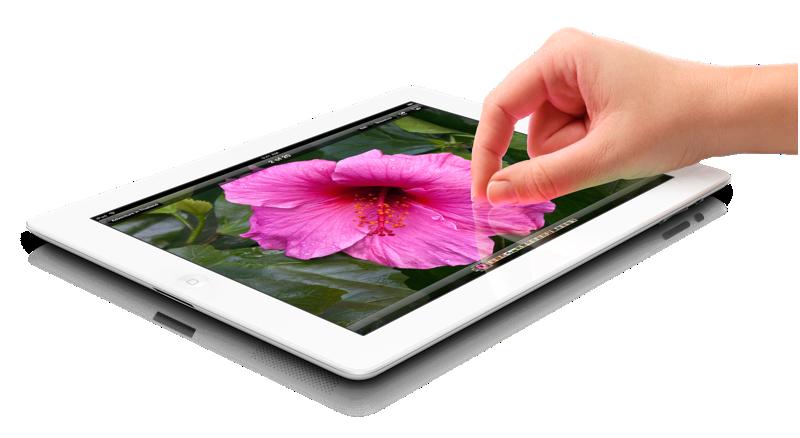 vit iPad med retina-skärm